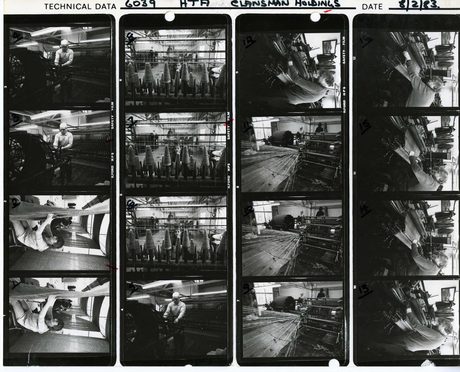 contact sheet of old mill workings