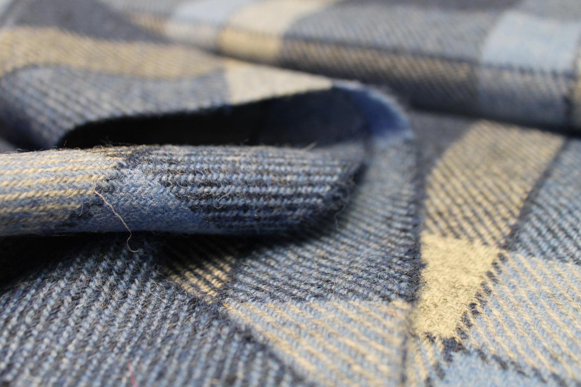 grey blue mix harris tweed® fabric