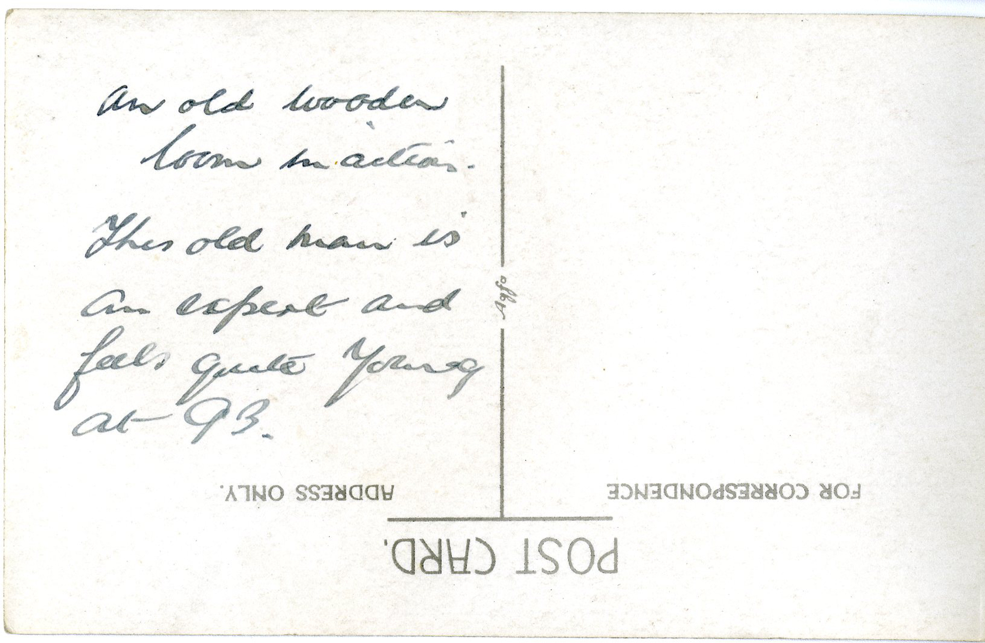 harris tweed authority archival postard