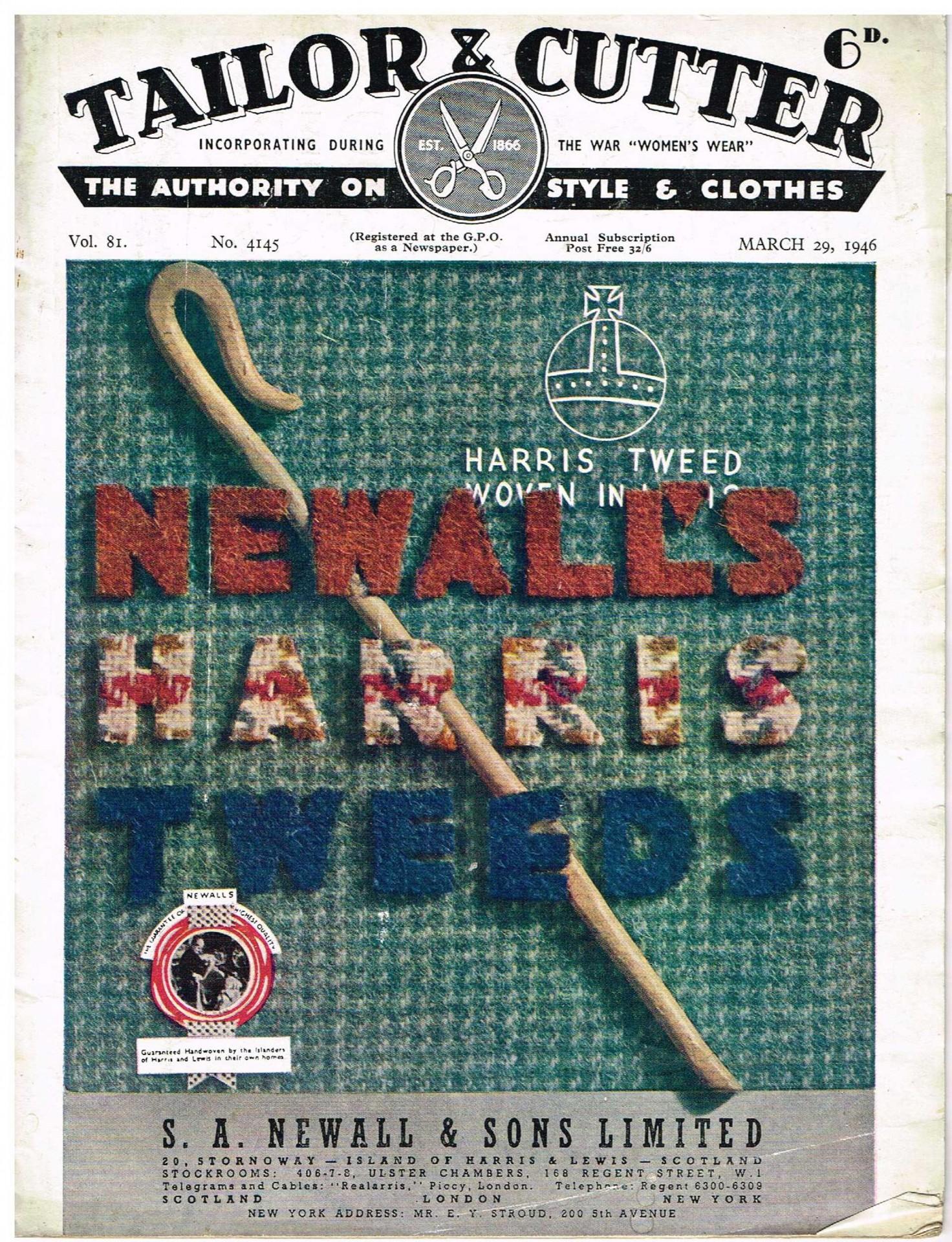 harris tweed authority vintage advert