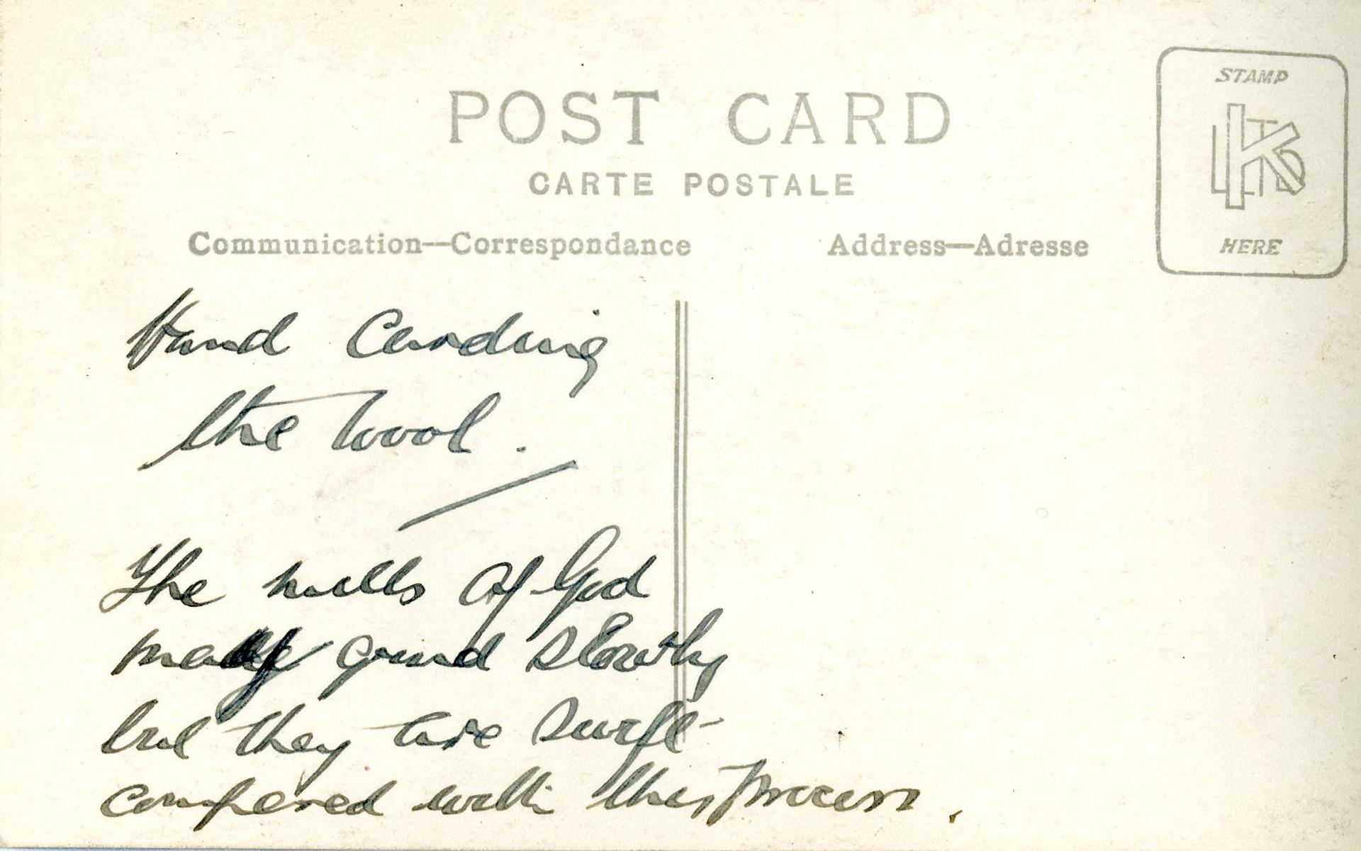 archival postcard harris tweed authority