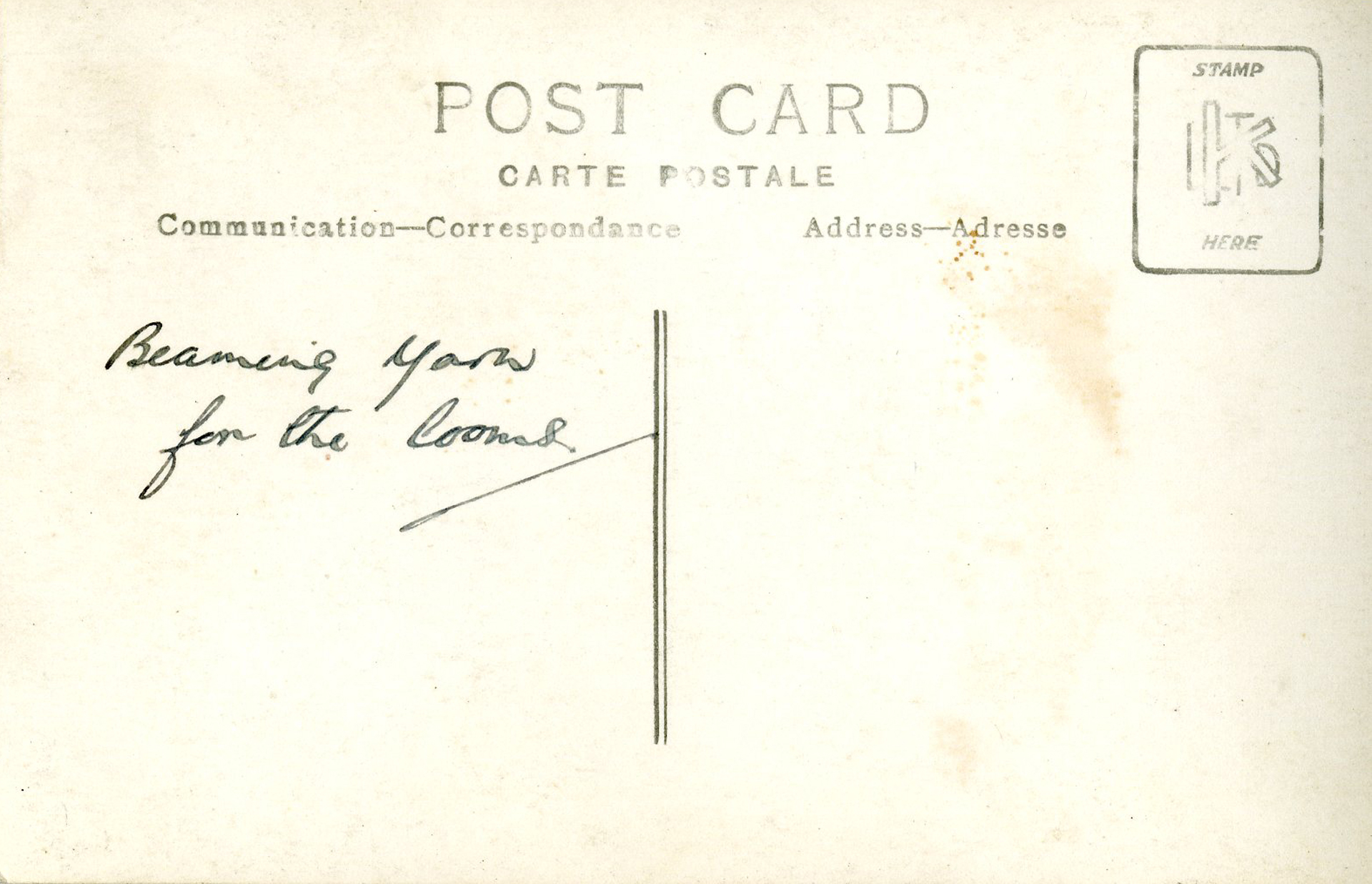 harris tweed authority archive postcard