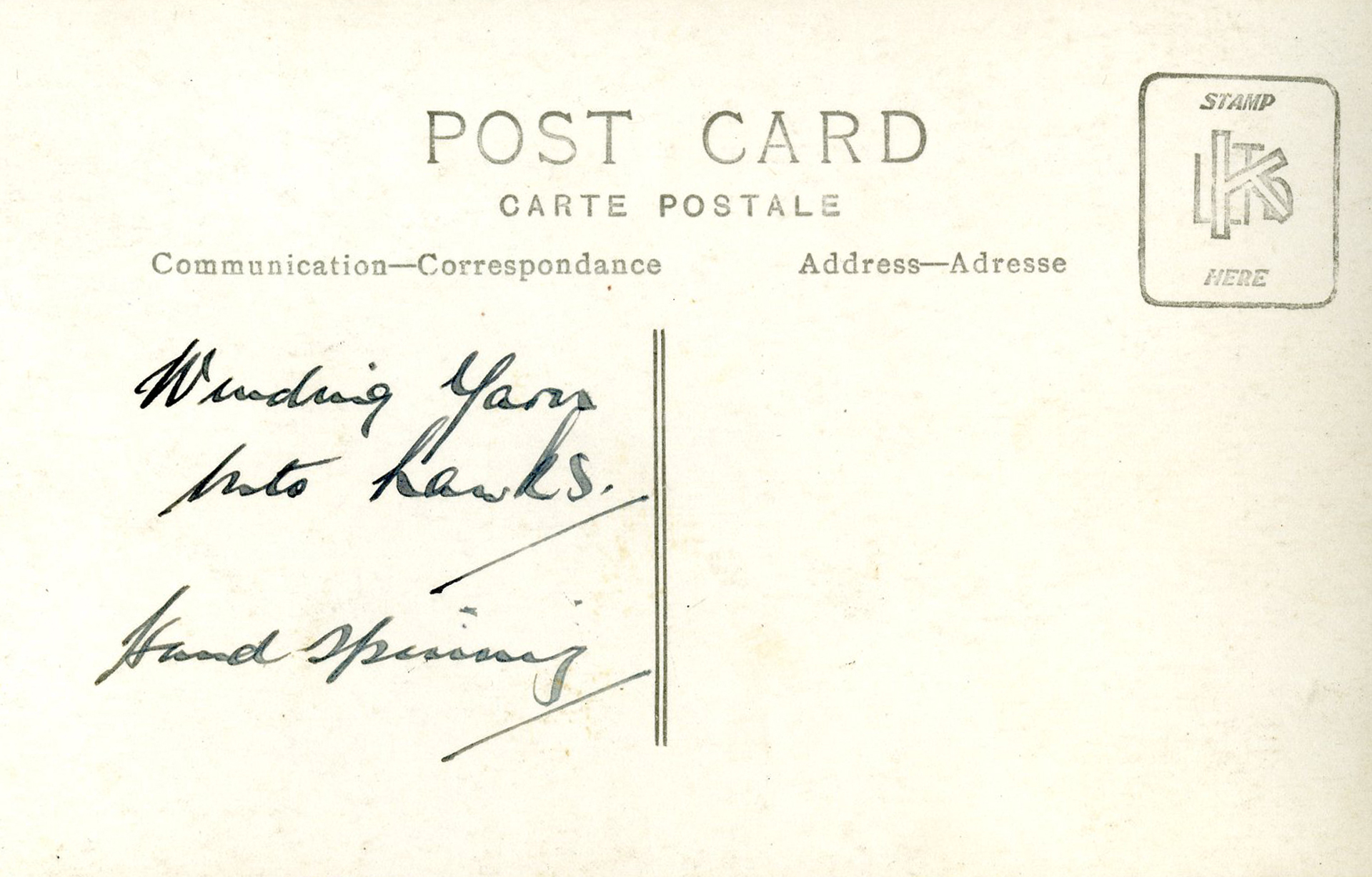 archive postcard harris tweed authority
