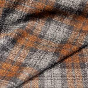 Grey Brown Tartan Harris Tweed® Cloth