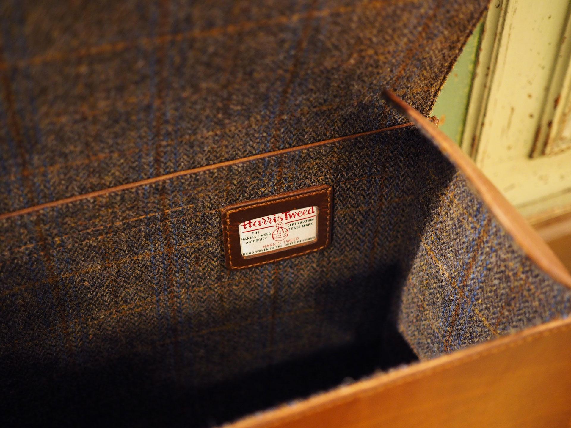 harris tweed® and leather bag