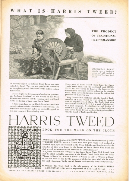What is Harris Tweed®? Tailor & Cutter, 7th January 1938