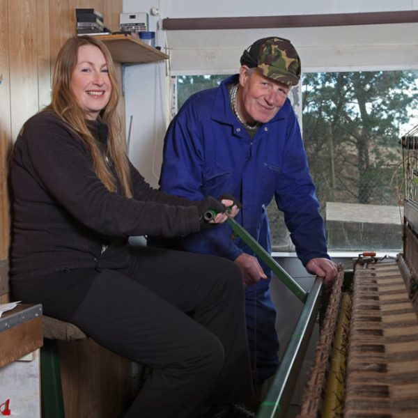 Two generations of Harris Tweed® weavers